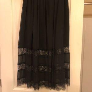 Midi Black lace skirt